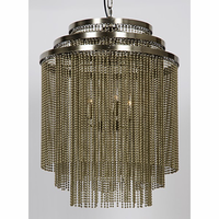 Noir Furniture Veil Chandelier, Antique Brass