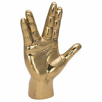 Noir Furniture Vulcan Hand Sign, Brass