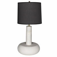Noir Furniture White Marble Oblong Table Lamp w/
