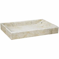 Noir Furniture White Marble Tray