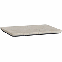 Noir Furniture White Marble Tray with Black Marble