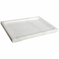 Noir Furniture White Stone Tray