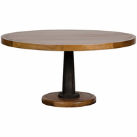 Noir Furniture Yacht Dining Table with Cast Pedestal,