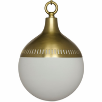 Noir Furniture Zoe Pendant, Antique Brass, Metal and