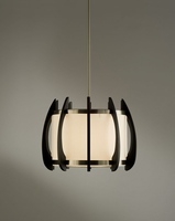 Nova Arito Gloss Black Wood Large Pendant