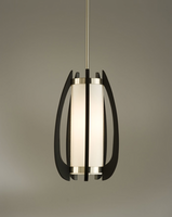 Nova Arito Gloss Black Wood Pendant