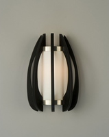 Nova Arito Gloss Black Wood Sconce