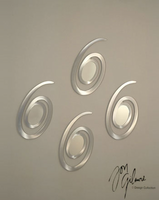 Nova Gyration 4pc Mirror in Brushed Aluminum Silver