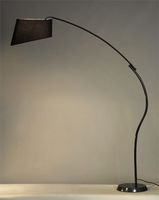 Nova Ibis Gloss Black Arc Lamp