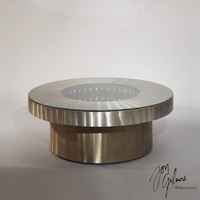 Nova Infinity Tunnel Cocktail Table in Bronze