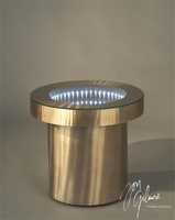 Nova Infinity Tunnel End Table in Bronze