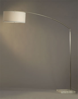 Nova Javelin White Marble Arc Lamp