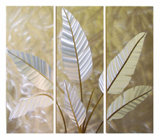 Nova Metallic Leaves, Wall Graphic