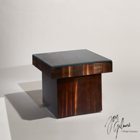 Nova Rootbeer Squared End Table