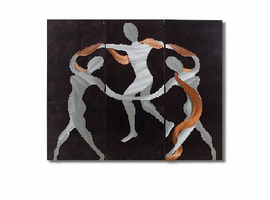 Nova Scarf Dance 3 Pieces Wall Graphic