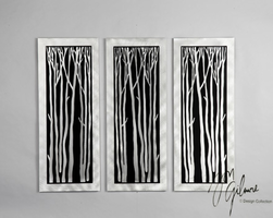 Nova Silver Birch Wall Graphic 3pc