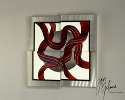 Nova Square Ribbons Wall Graphic