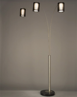 Nova Steccia 3-Light Black Wood Arc Lamp