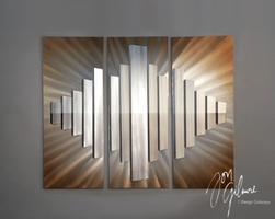 Nova Sunburst City 3pc Wall Graphic
