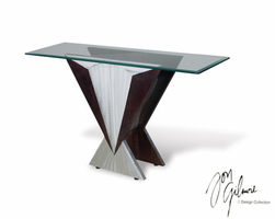 Nova The Wedge Console Table in Brushed Aluminum