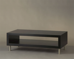 Nova Twin Gloss Black Wood Cocktail Table