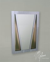 Nova Vector Brushed Aluminum Console Mirror