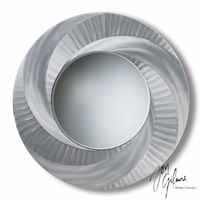 Nova Vortex Wall Mirror in Brushed Aluminum