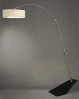 Nova Wedge Brushed Nick Arc Lamp