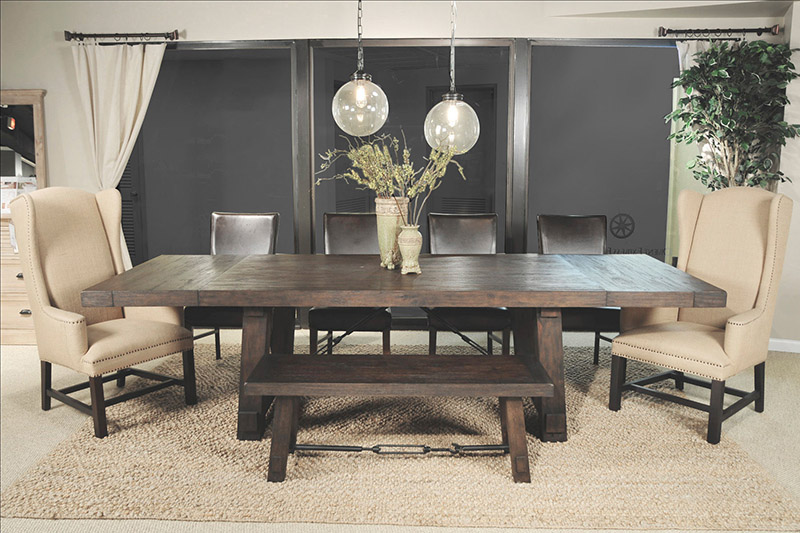 Dining Room Set With Extension orient express furniture 6090 carter extension dining table