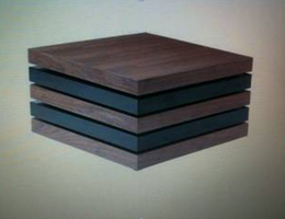 Beverly Hills Origam Walnut and Black Gloss Coffee Table