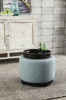 Ashley Express Furniture - Menga - A3000033 - Ottoman With Storage, Mist