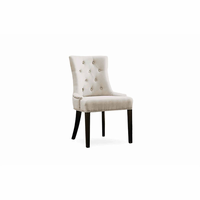 Pasha Furniture Camil Side Chair Tufted with Nail