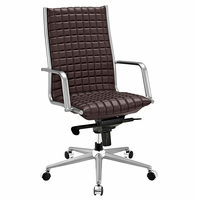 Pattern Highback Office Chair, Brown [FREE SHIPPING]