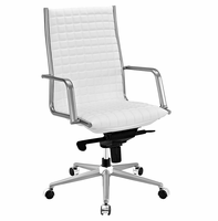 Pattern Highback Office Chair, White [FREE SHIPPING]