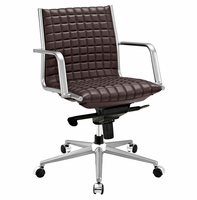 Pattern Office Chair, Brown [FREE SHIPPING]