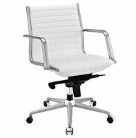 Pattern Office Chair, White [FREE SHIPPING]