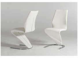 Penn - Modern White Leatherette Dining Chair (Set of 2)