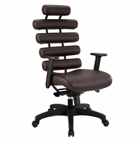 Pillow Office Chair, Dark Brown [FREE SHIPPING]