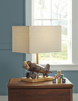 Ashley Express Furniture - Nicolas - L857694 - Poly Table Lamp (1/CN), Brown