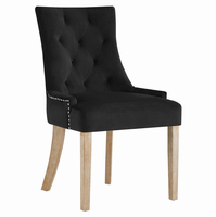 Pose Upholstered Fabric Dining Chair, Black [FREE SHIPPING]