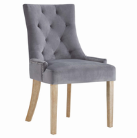 Pose Upholstered Fabric Dining Chair, Gray [FREE SHIPPING]