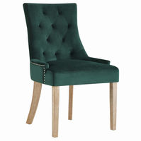 Pose Upholstered Fabric Dining Chair, Green [FREE SHIPPING]