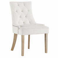 Pose Upholstered Fabric Dining Chair, Ivory [FREE SHIPPING]