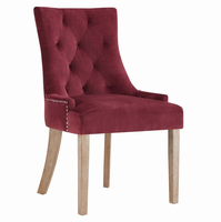 Pose Upholstered Fabric Dining Chair, Maroon [FREE SHIPPING]