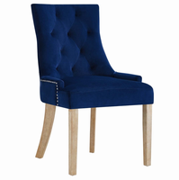 Pose Upholstered Fabric Dining Chair, Navy [FREE SHIPPING]