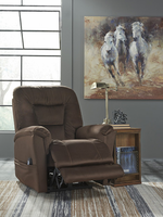 Ashley Furniture Power Recliner/ADJ Headrest, Bark