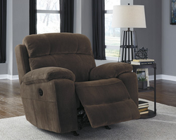 Ashley Furniture Power Recliner/ADJ Headrest, Chocolate