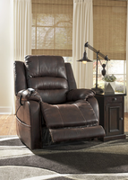 Ashley Furniture Power Recliner/ADJ Headrest, Walnut