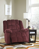 Ashley Furniture Power Rocker Recliner, Burgundy