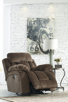 Ashley Furniture Power Rocker Recliner, Chocolate